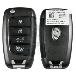 OEM Flip Key for Hyundai Sonata 2020+ Buttons:4 / Frequency:433MHz / Transponder: PCF7938/HITAG 3   / Blade signature: / Immobiliser System:Immobiliser Box / Part No:  95430-L1000