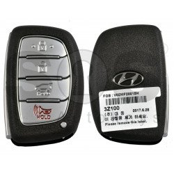 OEM Smart Key for Hyundai I 40 2012-2014 Buttons:3+1P / Frequency: 433MHz / Transponder: Tiris 4D+ / Blade signature:HY22 / Part No:95440-3Z100/ Keyless Go