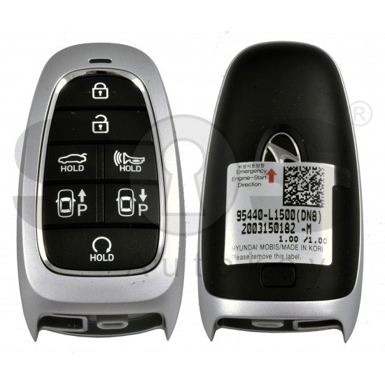 OEM Smart Key for Hyundai Sonata 2020+ Buttons:7 / Frequency:433MHz / Transponder:HITAG 3/NCF 29A1X/ Blade signature:HY22 / Part No: 95440-L1500 / Keyless Go / Automatic Start