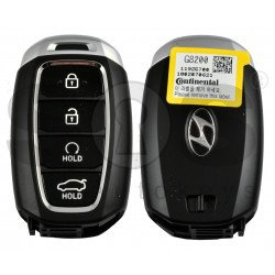 OEM Smart Key for Hyundai Azera 2018-2020 Buttons:4 / Frequency:433MHz / Transponder:NCF29A/HITAG 3 / Blade signature:HY22 / Part No: 95440-G82004X / Keyless Go