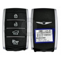 OEM Smart Key for Hyundai Genesis G90 2017+ Buttons:4 / Frequency:433MHz / Transponder: NCF29A3X/HITAG 3  / Part No:95440-D2000NNB / Keyless Go