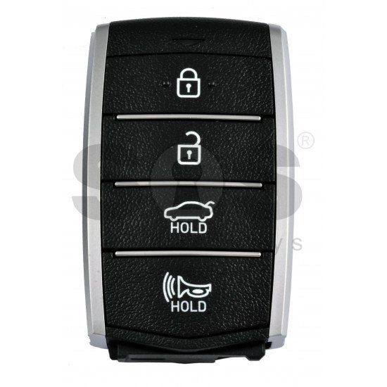 OEM Smart Key for Hyundai Genesis G80 2018-2019 Buttons:4 / Frequency:433MHz / Transponder:NCF29A/HITAG 3/ Blade signature:HY22 / Part No:95440-D2000BLH/ Keyless Go /