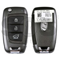 OEM Flip Key for Hyundai Tucson 2021+ Buttons:3 / Frequency:433 MHz / Transponder:PCF: 7938/HITAG 3 / Blade signature: / Part No :  95430-N9030