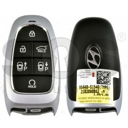 OEM Smart Key for Hyundai Santa Fe 2021+ Buttons:6 / Frequency:433MHz / Transponder:HITAG 3/NCF 29A/ Blade signature:HY22 / Part No: 95440-S1540 / Keyless Go / Automatic Start