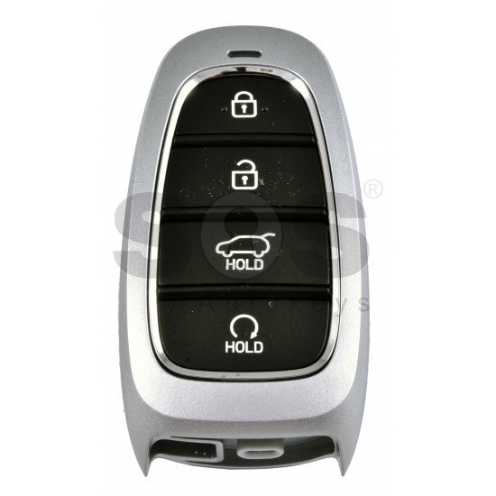OEM Smart Key for Hyundai Santa Fe 2021+ Buttons:4 / Frequency:433MHz / Transponder:HITAG 3/NCF 29A/ Blade signature:HY22 / Part No:  95440-S1510/ Keyless Go / Automatic Start