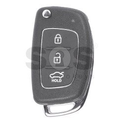 OEM Flip Key for Hyundai Tucson / IX35 2014+ Buttons:3 / Frequency:433MHz / Transponder:PCF 7936/ ID46/ HITAG2 / Blade signature:HY22 / Immobiliser System:Immobiliser Box / Part No:95430-C7600/ RKE-4F08/ 95430-2S750