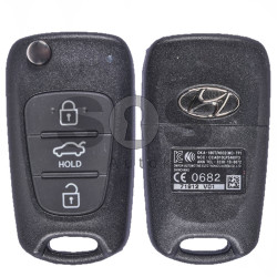 OEM Flip Key for Hyundai Buttons:3 / Frequency:433MHz / Transponder:PCF 7936 / Blade signature:Y-6DP1 / Immobiliser System:Immobiliser Box / Part No:OKA-186T/ N032