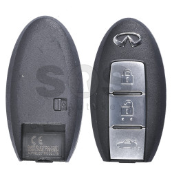 OEM Smart Key for Infiniti Buttons:3 / Frequency:434MHz / Transponder:PCF 7952 / Blade signature:NSN14 / Part No:5WK49894 (WITHOUT SLOT)