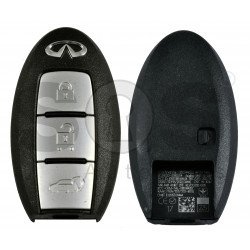 OEM Smart Key for Infiniti Q50 2016+ Buttons:3 / Frequency:434MHz / Transponder:HITAG AES / Blade signature:NSN14 /Part No: 285E3-4GR0C