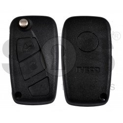 OEM Flip Key for Iveco Buttons:2 / Frequency:433MHz / Transponder:ID48 / Blade signature:SIP22 precut /