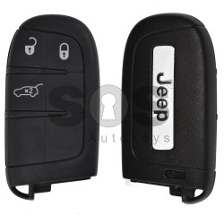 OEM Smart key for Jeep Buttons:3 / Frequency: 433MHz / Transponder: PCF 7945/ 7953/ AES / Blade signature: CY24/ SIP22