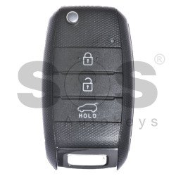 OEM Flip Key for KIA Sportage Buttons:3 / Frequency:433MHz / Transponder:PCF 7936/ HITAG 2/ ID46 / Blade signature:HY22 / Part No 95430-3W200/ 95430-2P930