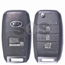 OEM  Flip Key for KIA Sportage Buttons:3 / Frequency:433MHz / Transponder:4D60 80-Bit / Blade signature:HY22 / Immobiliser System:Immobiliser Box / Part No:OKA-870-T(YD)