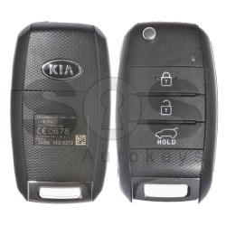 OEM Flip Key for Kia CEED 2015+ Buttons:3 / Frequency:433MHz / Transponder:TMS37145 80-Bit/ ID6D / Blade signature:HY22 / Model: DD3TX1302 - JD / Part.No.: 95430-A2100