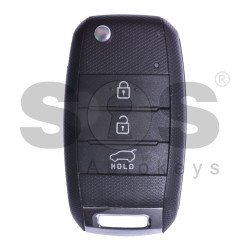 OEM Flip Key for Kia Rio Buttons:3 / Frequency:433MHz / Transponder:TMS37145 80-bit/ ID 6D / Model: RKE - 3F05 / Blade signature:HY22 / Immobiliser System: Immobiliser Box