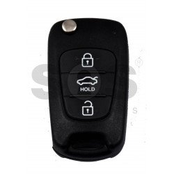 OEM Flip Key for KIA RIO Buttons:3 / Frequency:433MHz / Transponder:PCF 7936/ ID46/ HITAG 2 / Blade signature:HY22 / Part No 95430-4Y050