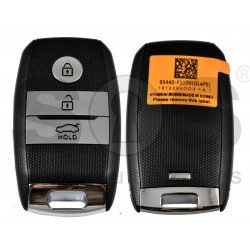 Smart Key KIA Sportage 2019 Buttons:3 / Frequency: 433MHz / Transponder: HITAG 3/ NCF2971X / NCF2972X / Blade signature: HY22 / Part No: 95440-F1100 / Keyless GO