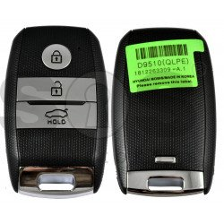 Smart Key KIA Sportage 2019+ Buttons:3 / Frequency: 433MHz / Transponder: HITAG 3/ NCF2971X / NCF2972X / Blade signature: HY22 / Part No: 95440-D9510 / Keyless GO