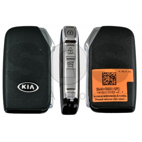 OEM Smart Key for Kia TELLURIDE / CADENZA  Buttons: 3 / Frequency:433MHz / Transponder: NCF 29A1X HITAG3 /  Part No: 95440-F6600 / Keyless Go
