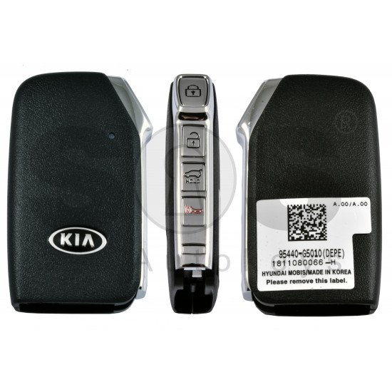 OEM Smart Key for Kia NIRO  Buttons: 3+1P / Frequency:433MHz / Transponder: NCF 29A1X HITAG3 /  Part No: 95440-G5010/ Keyless Go /
