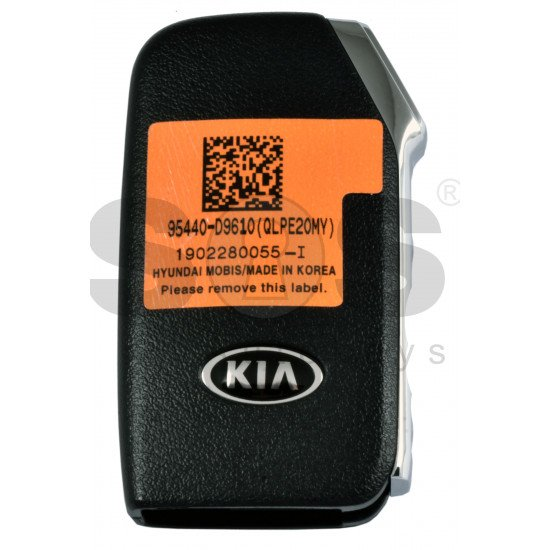 OEM Smart Key for Kia 2019+  Buttons: 3P / Frequency:433MHz / Transponder: NCF 29A1X HITAG3 /  Part No:95440-D9610 / Keyless Go /