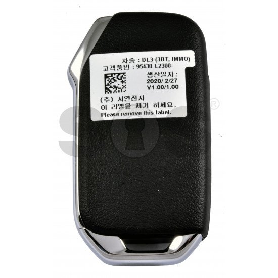 OEM Flip Key for Kia Optima 2020-2021+ Buttons:3 / Frequency:433MHz / Transponder: RF430(8A) / Blade signature:HY22 / Part No: 95430-L2300