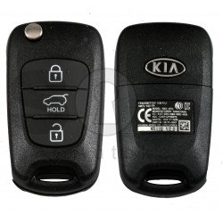 OEM Flip Key for Sorento 2012-2014 Buttons:3P/ Frequency:433MHz / Tranponder : PCF7936/HITAG 2/  Blade signature:HY22 / Part No 95430-2P910/2P911