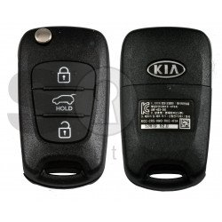 OEM Flip Key for KIA  Rio 2012 Buttons:3/ Frequency:433MHz / Tranponder : No transponder /  Blade signature:HY22 / Part No : 95430-1W002