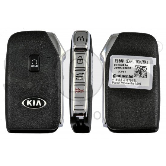 OEM Smart Key for Kia K4 2020+ Buttons: 4+1P / Frequency:433MHz / Transponder:  NCF29A/HITAG AES /  Part No: 95440-R0000 / Keyless Go / Automatic Start