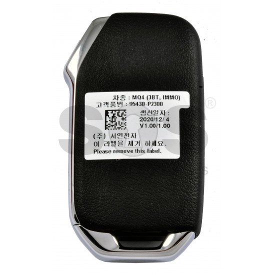 OEM Flip Key for Kia Sorento 2021 Buttons:3 / Frequency:433MHz / Transponder: PCF7939M/HITAG AES / Blade signature:HY22 / Part No:  95430-P2300