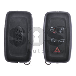 OEM Smart key for Land/Range Rover Buttons:4+1 / Frequency:434MHz / Transponder:PCF 7953 / Blade signature:HU101 / Immobiliser System:KWM / Part No:LR027451/ CH22-14K601-BB / Keyless Go