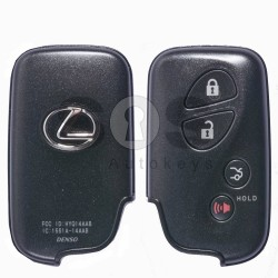 OEM Smart Key for Lexus Buttons:3+1 / Frequency: 433MHz / Transponder:Texas Crypto ID 6D - 67/68/70 / First Page: D4 / Part No: 89904-30270 / Immobiliser system: Smart Module / Keyless Go