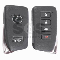 OEM Smart Key for Lexus Buttons:3+1 / Frequency:433MHz / Transponder: Texas Crypto / 128-bit / AES / First Page: 88 / Part No:89904-30C80 / Immobiliser system:Smart Module / Keyless Go