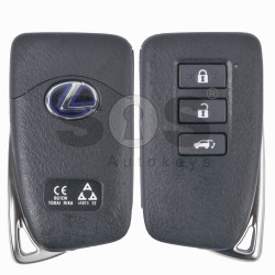 OEM Smart Key for Lexus Buttons:3 / Frequency: 433MHz / Transponder: Texas Crypto / 128-bit / AES / First Page: A8 / Part No:89904-78450 / Immobiliser system: Smart Module / Keyless Go