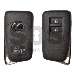 OEM Smart Key for Lexus Buttons:2 / Frequency: 434MHz / Transponder: Texas Crypto 128-Bit AES / First Page: A8 / Immobiliser system: Smart System / Blade signature: TOY-48 / Part No: 89904-78440 / Keyless Go
