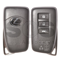 OEM Smart Key for Lexus Buttons:3 / Frequency: 433MHz / Transponder: Texas Crypto/ 128-Bit/ AES / First Page: A8 / Part No: 89904-78591 / Model: BG1EW / Keyless Go