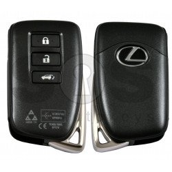 OEM Smart Key for Lexus RX 2015+ Buttons:3 / Frequency: 433MHz / Transponder: PCF TIRIS RF430 (8A) / First Page: A8 / Part No: 89904-48K60; 89904-48L01; 89904-48K90; 89904-48L00; 89904-48J50 / Model: BP1EW / Keyless Go