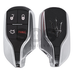 OEM Smart Key for Maserati Buttons:3+1 / Frequency: 433MHz / Transponder: HITAG2/ ID46/ PCF7953 / Blade signature: CY24 / Immobiliser System: BCM / Part No: TIK-MAS-01 / Keyless Go