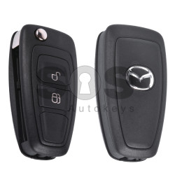 OEM Flip Key for Mazda 3 Buttons:2 / Frequency:433MHz / Transponder:4D63 80-Bit / Blade signature:HU101 / Immobiliser System:IMMO BOX / Part No:5WK50168