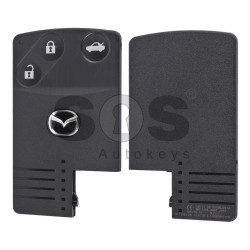 Key Shell (Smart Card) for Mazda Buttons:3 / Blade signature: MA24R / (With Logo)