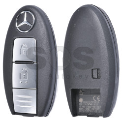 OEM Smart Key for Mercedes X-Class Buttons:2 / Frequency:434MHz / Transponder:PCF 7952 / Blade signature:NSN14 / Immobiliser System:BCM / FFC ID: CWTWB1U825 / Keyless GO (WITHOUT SLOT)