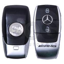 OEM 2x Smart Keys Mercedes AMG W213 Buttons:2 / Frequency: 433.92MHz / Part No: A2139057409 / Blade signature:HU64 / Keyless Go (ONLY PAIRS)