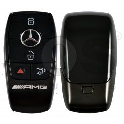 OEM  Smart Key Mercedes AMG FBS4 Buttons:3+1P / Frequency: 315 MHz /  Part No: A 177 905 91 01 / Blade signature:HU64 / Keyless Go /  Black
