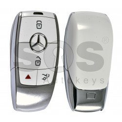 OEM  Smart Key Mercedes FBS4 Buttons:3+1P / Frequency: 315 MHz /  Part No: A 167 905 36 03 / Blade signature:HU64 / Keyless Go / Nickel White