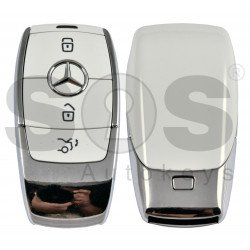OEM  Smart Key Mercedes FBS4 Buttons:3 / Frequency: 433.92 MHz /  Part No:  A 167 905 33 03 / Blade signature:HU64 / Keyless Go / Nickel White