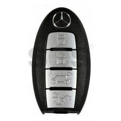 OEM Smart Key for Mercedes X-Class Buttons:4 / Frequency:434MHz / Transponder:NCF29A/HITAG / Blade signature:NSN14 / Immobiliser System:BCM / FFC ID: KR5TXN1AES / Keyless GO