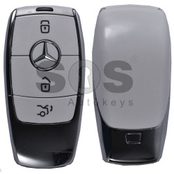 OEM 2x Smart Keys Mercedes W213 2016+ Buttons:3 / Frequency: 433.92MHz / Transponder:BGA / Part No: A2139059209 / Blade signature:HU64 / Keyless Go (ONLY PAIRS)