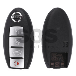 OEM Smart Key for Nissan Buttons:3+1 / Frequency:433MHz / Transponder:PCF7953 / Blade signature:NSN14 / Part No: 285E3-3KL8A / Keyless Go (WITH SLOT)