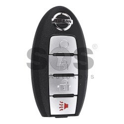 OEM Smart Key for Nissan Buttons:3+1 / Frequency:433MHz / Transponder: PCF7952 / Blade signature:NSN14 / Part No: 285E31AC7B (WITHOUT SLOT)