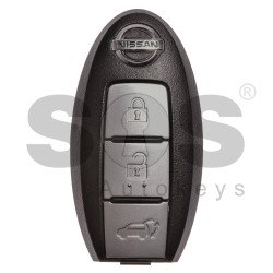 OEM Smart Key for Nissan Buttons:3 / Frequency: 434MHz / Transponder: HITAG 2/ ID 46/ PCF7952 / Blade signature: NSN14 / Part No: 5WK49619 / 285E3-1TJ0E (With Slot)